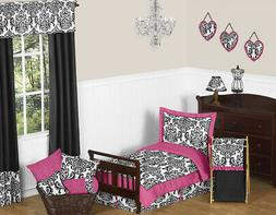 Sweet Jojo Designs 5-Piece Hot Pink, Black and White Isabell