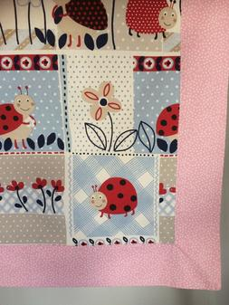 Pink Ladybug Baby Blanket/Receiving Blanket for a girl. Idea