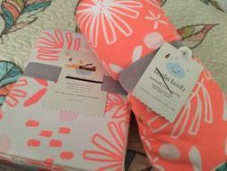 Cloud Island Pink Lemonade Baby Blanket /Floral Coral Crib S