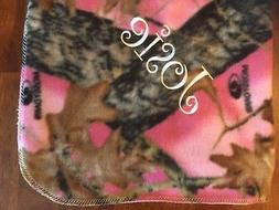 Pink Mossy Oak Camo Baby Toddler Blanket Can Be Personalized