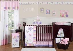 Sweet Jojo Designs 11-Piece Pink and Purple Butterfly Flower