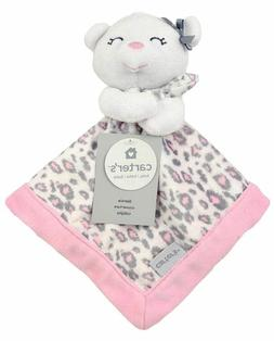 Carter's Pink/White Bear Security Blanket with Plush