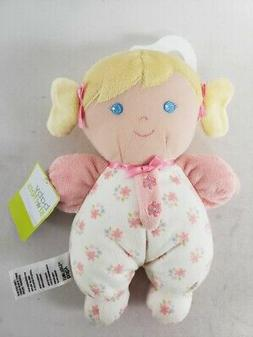Baby Starters Pink White Flowers Blonde Hair Rattle Little G