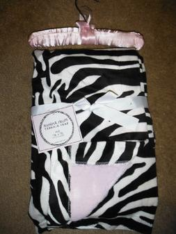 SL Baby Collection Pink Zebra Print Fleece Plush Animal Baby