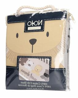 NoJo Play Day Pals 100% Cotton Photo Op Fitted Crib Sheet, C