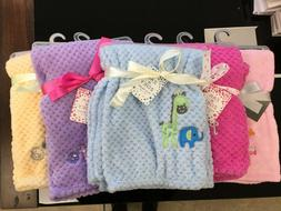 Plush Baby Blanket 30x40 Soft & Snuggly, Assorted