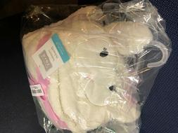 Hudson Baby Hooded Plush Blanket, Girly Lamb, One Size