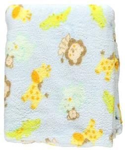 "Baby Starters ""Junior Jungle"" Plush Blanket - blue, one size"