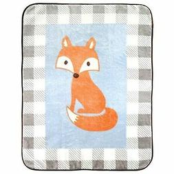 Plush Blanket Fox Baby Shower Gift Warm Soft Fluffy Bedding
