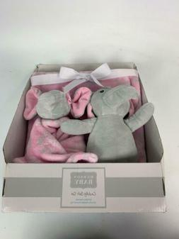 Hudson Baby Plush Blanket, Plush Toy and Security Blanket, 3