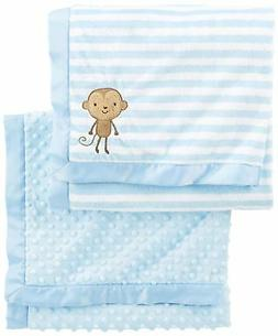 Simple Joys by Carter's Baby Boys' 2-Pack Plush Blankets, Bl
