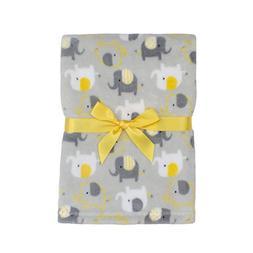 Baby Gear Plush Boa Ultra Soft Baby Boys Blanket 30 x 40 Gre