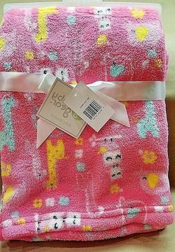 Baby Gear Plush Boa Ultra Soft Baby Girls Blanket 30 x 40 Pi