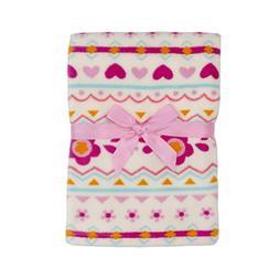 Baby Gear Plush Boa Ultra Soft Baby Girls Blanket 30 x 40 Tr