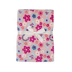 Baby Gear Plush Boa Ultra Soft Baby Girls Blanket 30 x 40 Fl