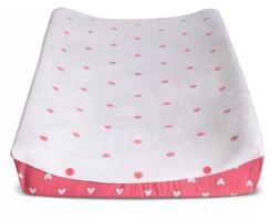 Circo Plush Changing Pad Cover Hearts Girls new Pink