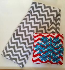 Holiday Time Plush Christmas Pillow and Throw Set Chevron Sn