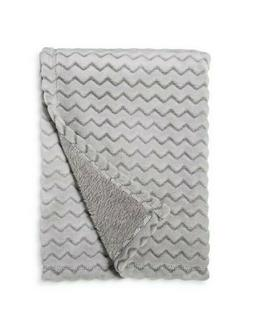 plush embossed baby blanket chevron