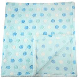 30x30 Inch Plush Fleece Baby Blanket - Assorted Colors Polka