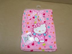 Plush Hello Kitty Pink Baby Blanket