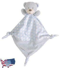 Stephan Baby Plush Knotty Animal Security Blankie, Blue Bear