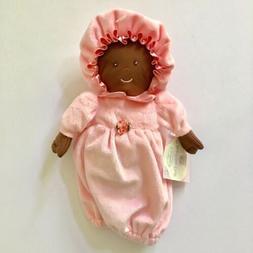 Middleton Doll Plush Lovey Security Dark Skin Tone Pink Dres