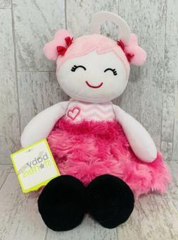 Baby Starters Plush Snuggle Buddy Doll Pink Chevron NWT Doll