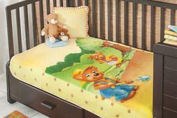 Plush Super Soft Blanket Teddy Bears Baby Toddler Plush Mink