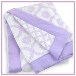 Just Born Plush Trellis/Hampton Blanket, Lilac