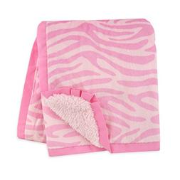 Carter's Plush Valboa with Microplush Blanket, Zebra/Pink