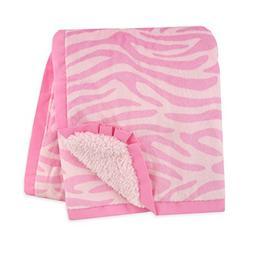 Carter's Plush Valboa with Microplush Blanket, Zebra/Pink