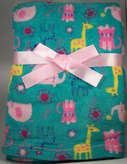 Baby Gear Blanket Plush Velboa Ultra Soft 30 x 40, Monkey, G
