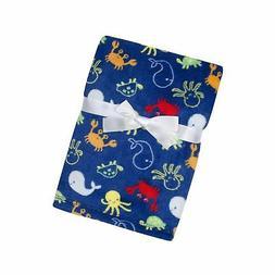 Baby Gear Plush Velboa Ultra Soft Baby Boys Blanket 30 x 40,