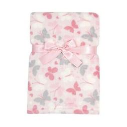 Baby Gear Plush Velboa Ultra Soft Baby Girls Blanket 30 x 40