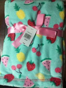 Baby Gear Plush Velboa Ultra Soft Baby Girls Blanket 30 x 40