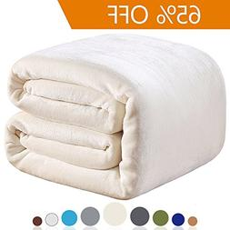 Richave Polar Fleece Throw Blankets Travel Size for The Bed