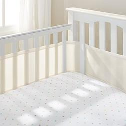 100% Polyester, Soft, Easy Wrap Design Ecru Crib Liner