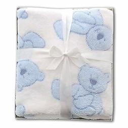 Stephan Baby Pot-Bellied Bear Ultra Soft Plush Fleece Blanke