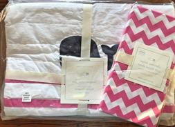 Pottery Barn Baby 2 Pc Nursery Crib Bedding Hamptons Whale Q