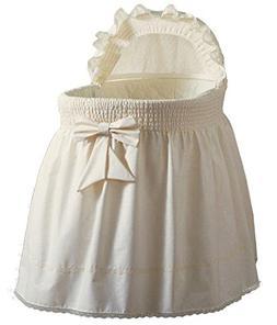 Babydoll Bedding Precious Bassinet Liner/Skirt & Hood, Ecru,
