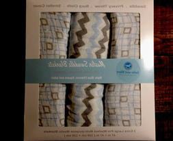 Premium Soft Baby Swaddle Blankets Receiving Nursery 3 Pack