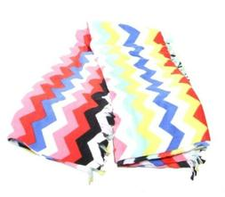 Mainstays Pretty Multi Color Fleece Throw Blanket With Fring
