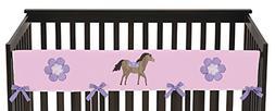 Sweet Jojo Designs Pretty Pony Horse Long Front Rail Guard B