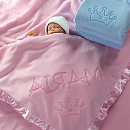 Custom Catch Princess Baby Blanket for Girls - Toddler Girl