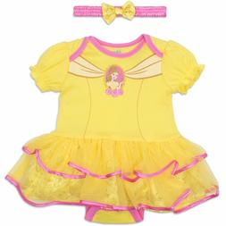 Disney Princess Belle Baby Girls' Costume Tutu Dress Bodysui