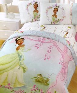 4pc Princess Frog Pink Tree Full Bedding Sheet Set
