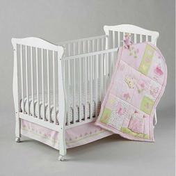 NoJo Princess Rose 4-piece Crib Bedding Set