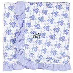 Kickee Pants Print Ruffle Stroller Blanket, Forget Me Not Fl
