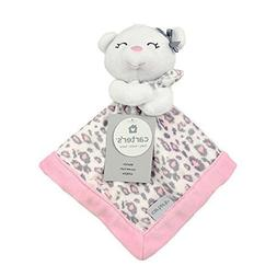 Carter's Print Security Blanket, Pink/Grey Bear with Leopard