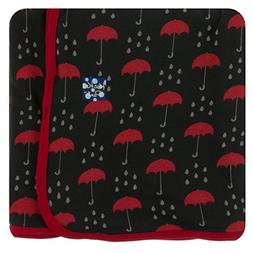 Kickee Pants Print Swaddling Blanket - Umbrellas and Rain Cl